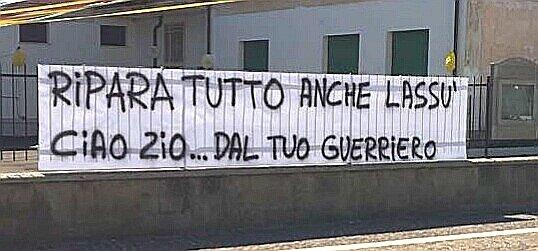 """""""Ripara tutto anche lassù, ciao zio dal tuo guerriero"""", l'ultimo saluto del nipote a Pasquale Di Giulio"""