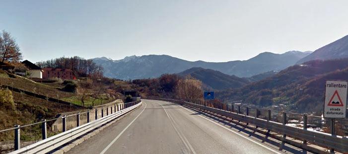 Chiusura temporanea della SS 690 Superstrada del Liri, tratto tra Capistrello e Civitella Roveto nei giorni 28 e 29 novembre