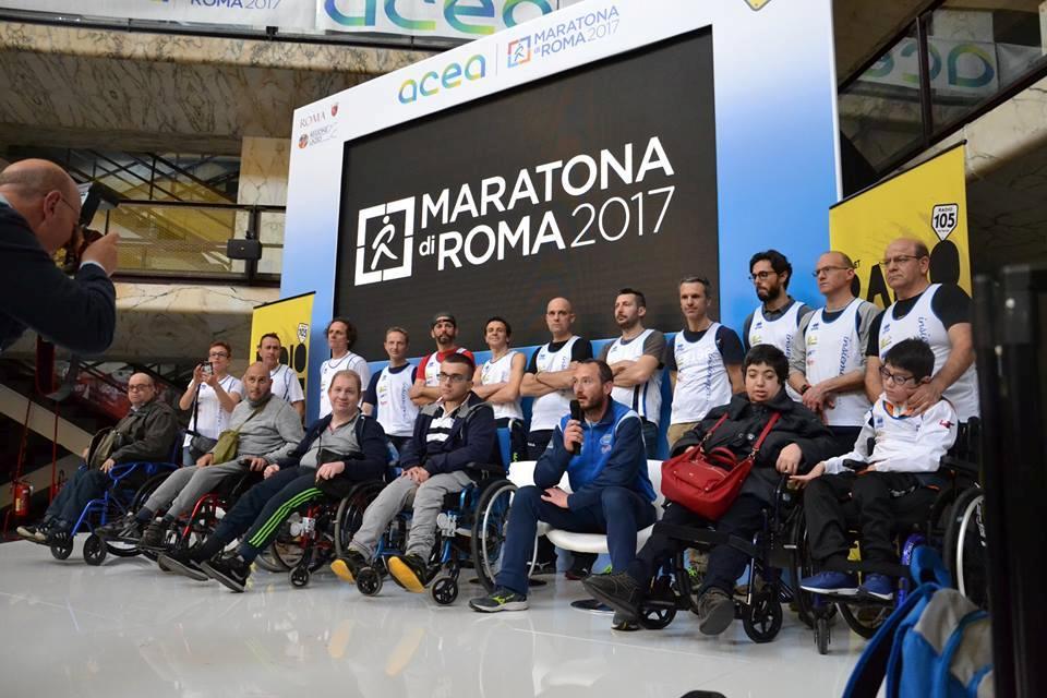 """Disabili e atleti """"spingitori"""" alla Maratona di Roma 2018"""