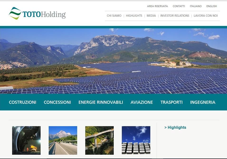 Toto Holding : confermato l'interesse ad investire su Bussi. 350 posti di lavoro e 300 milioni di euro di investimento