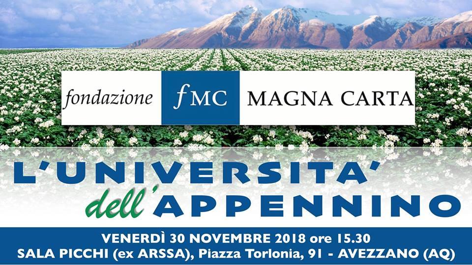 """Il convegno """"L'Università dell'Appennino"""" ad Avezzano"""
