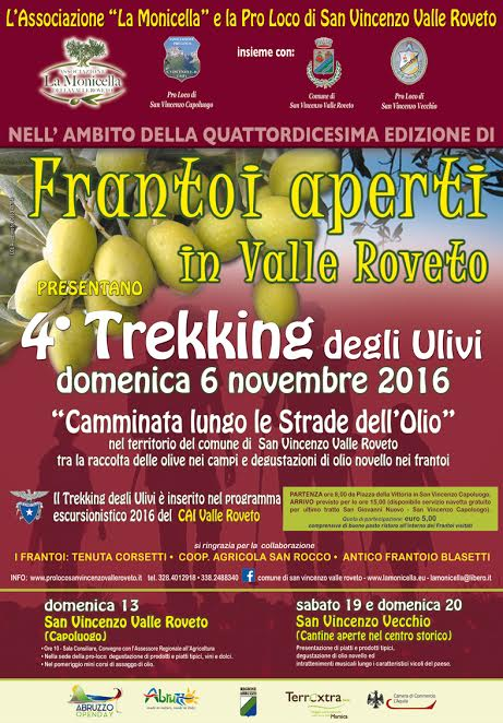 4° Trekking degli ulivi in Valle Roveto