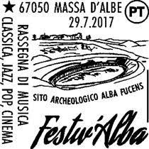 Alba Fucens, annullo filatelico per Festiv'Alba