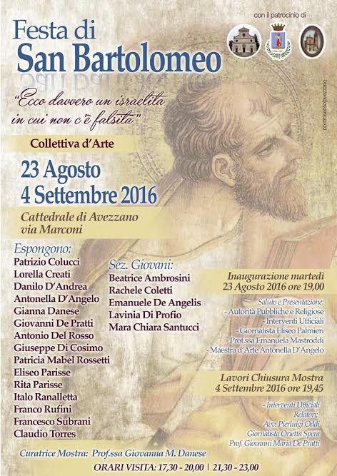 Seconda Collettiva d'Arte contemporanea ad Avezzano