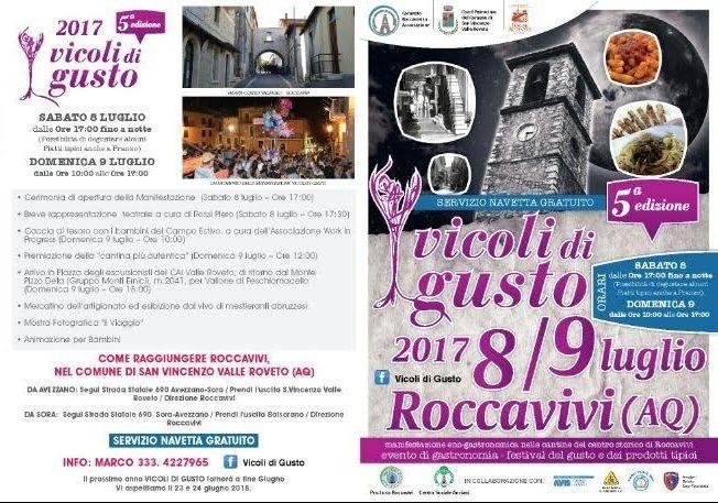 Torna Vicoli di Gusto: manifestazione eno-gastronomica nelle cantine del borgo di Roccavivi (San Vincenzo Valle Roveto)