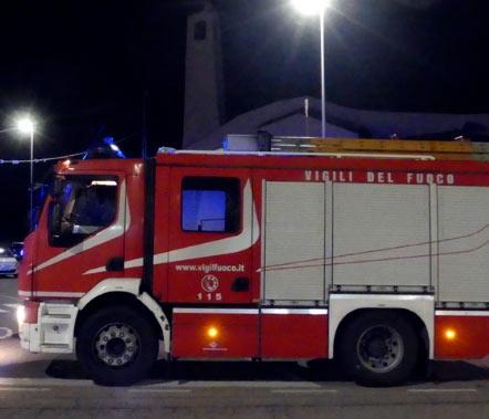 Perdita di gas nel centro di San Benedetto dei Marsi, intervento dei Vigili del fuoco