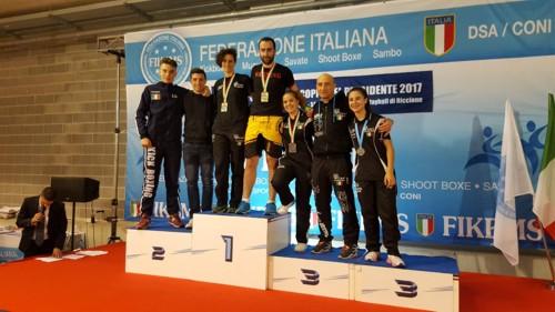 Criterium e Coppa del Presidente 2017: gli atleti della K.O. Team Kickboxing di Maurizio Pollicelli conquistano un oro e quattro bronzi e accedono al Campionato Italiano e al Trofeo Italia