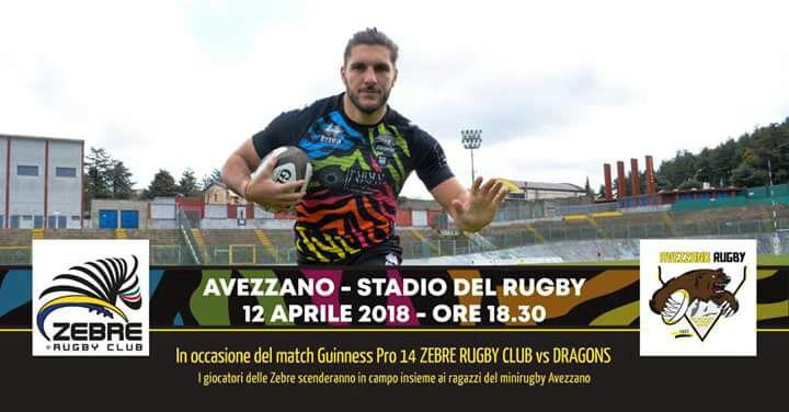 Domani le 'Zebre' incontrano l'Avezzano Rugby