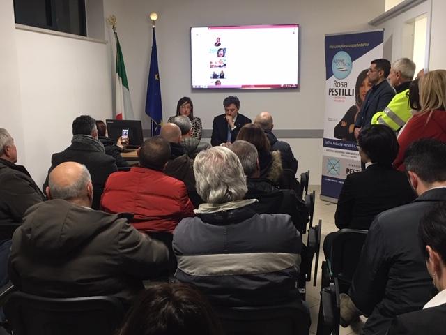 Regionali: Marsilio incontra gli imprenditori della Marsica al CONAPI l'aquila con Rosa Pestilli