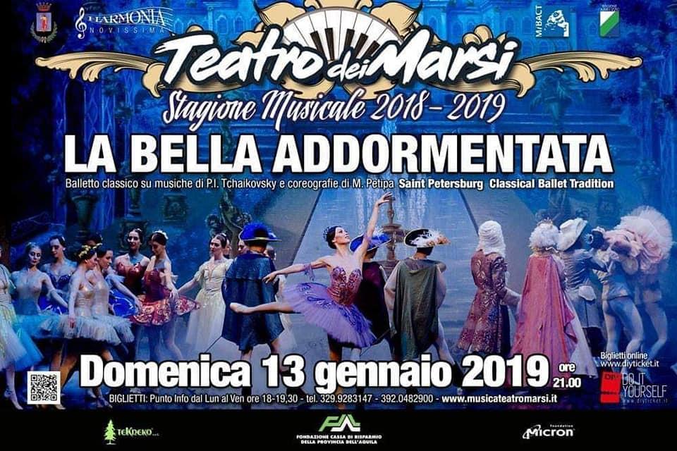 La magia della Bella Addormentata sbarca al Teatro dei Marsi. Tutto pronto per lo show del 13 gennaio