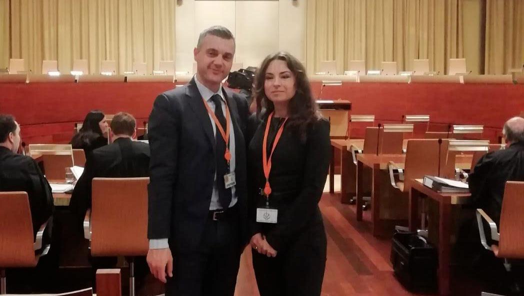 Due avvocati del foro di Avezzano, Maryna Vahabava e Angelo Chiuchiarelli, in missione in Lussemburgo per l'internazionalizzazione della professione forense