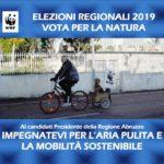 Il WWF Abruzzo lancia una campagna social per portare l'ambiente nella competizione elettorale