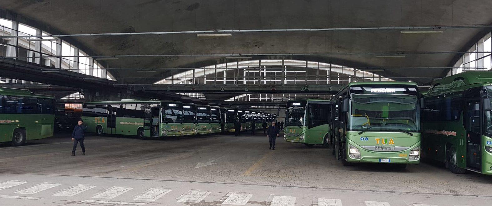 TUA, trentasette nuovi bus dotati di sistemi di digitalizzazione per l'ammodernamento della flotta, sei sono destinati all'area marsicana