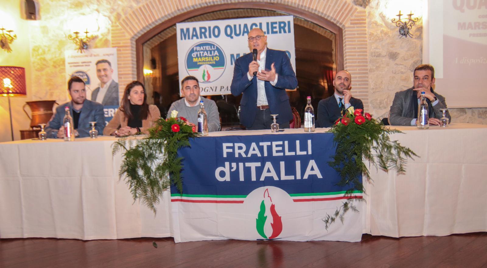Il Vicepresidente della Camera dei Deputati, Fabio Rampelli in prima linea per il candidato di Fratelli d'Italia Mario Quaglieri