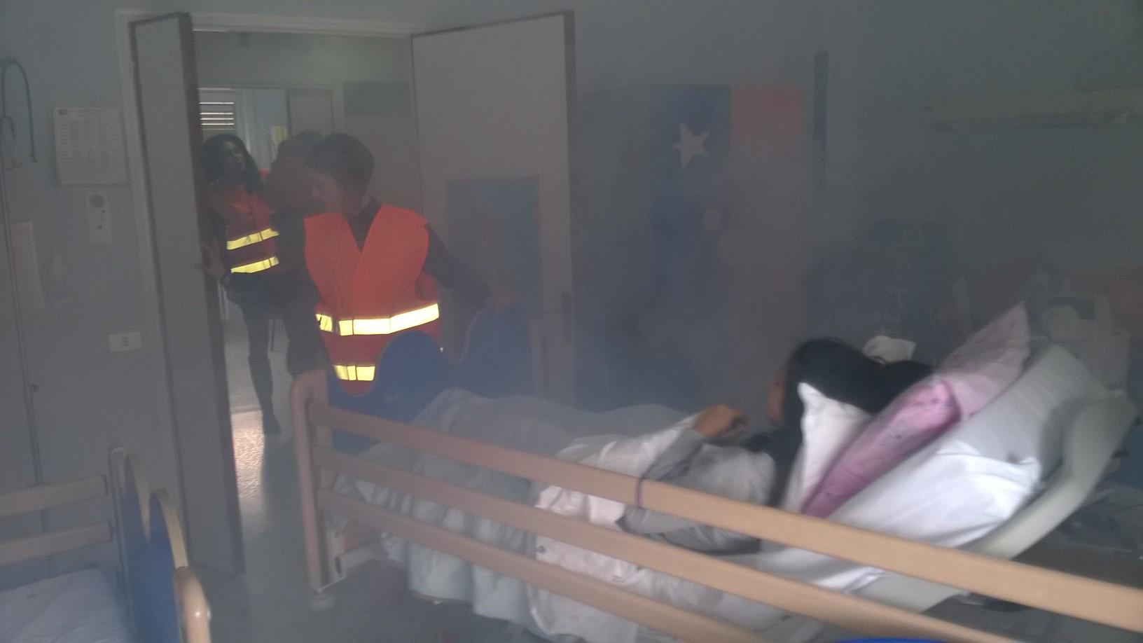 Questa mattina nell'ospedale di Avezzano prova antisismica: coinvolti tutti i reparti con 355 persone presenti, tra degenti e sanitari.