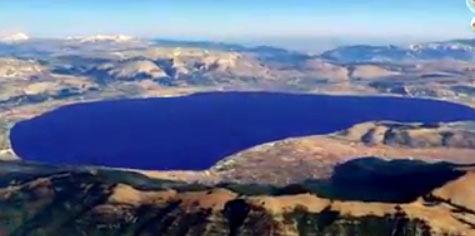 Lago Fucino, come sarebbe senza l'intervento del Principe Torlonia che prosciugò il bacino