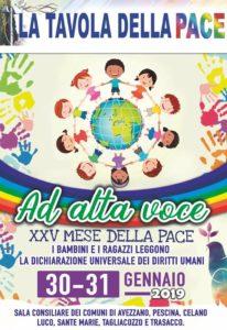 """""""Ad Alta Voce"""", al via l'iniziativa promossa dalla Tavola della Pace di Avezzano"""