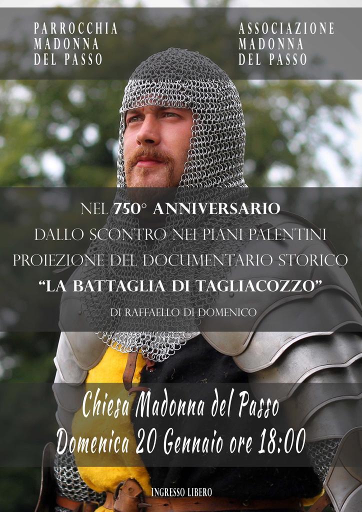 """Proiezione del documentario storico """"La battaglia di Tagliacozzo"""" alla chiesa """"Madonna del Passo"""""""