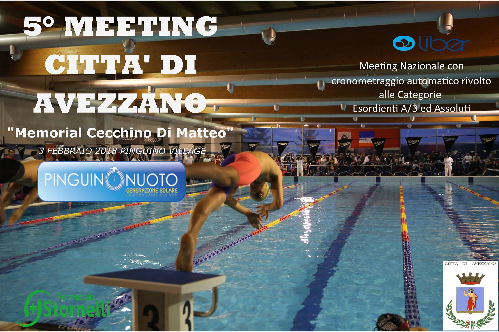 """Pinguino Nuoto, il 3 febbraio 5° Meeting di Avezzano """"Memorial Cecchino Di Matteo"""""""