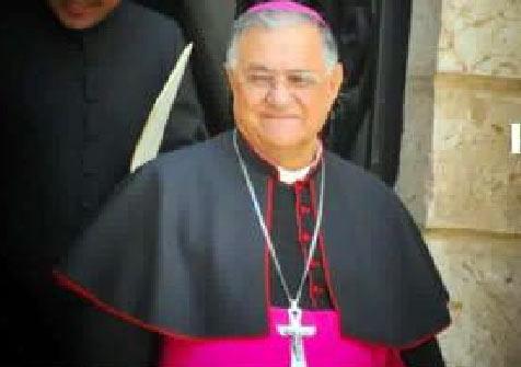 Mons. Fouad Twal Patriarca Cattolico di Gerusalemme a Tagliacozzo per parlare della sua opera di mediazione tra Israele e Palestina