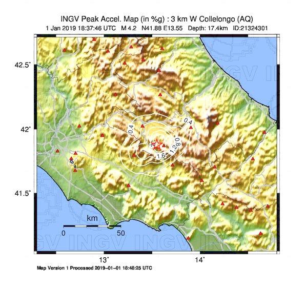 Scossa di terremoto avvertita tutta la Marsica, epicentro Collelongo, magnitudo 4.2