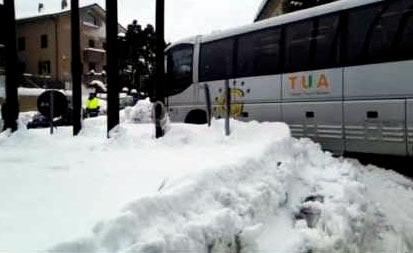 Situazione dei servizi bus Tua Spa suddivisa per zone geografiche della regione Abruzzo