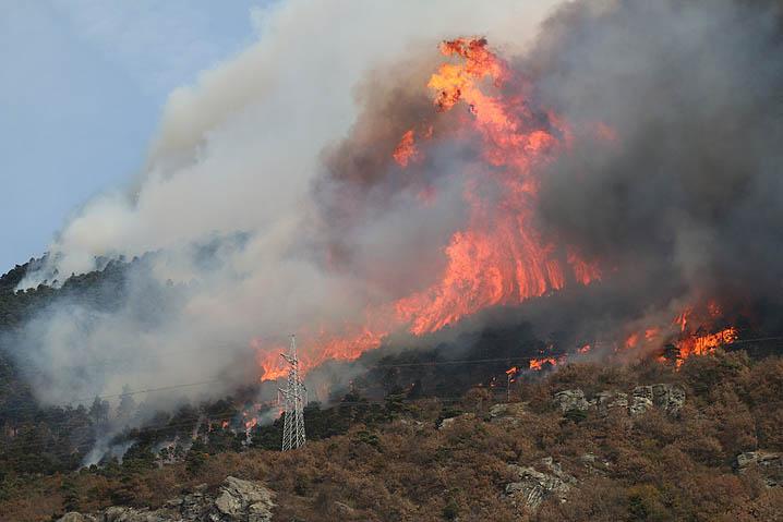 Incendio sulla Serra di Celano (Video)