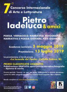 """Al via il 7° Concorso internazionale di Arte e Letteratura """"Pietro Iadeluca & amici"""""""