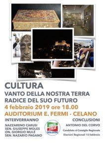 """A Celano si parla di Cultura, """"vanto della nostra terra, radice del suo futuro"""""""