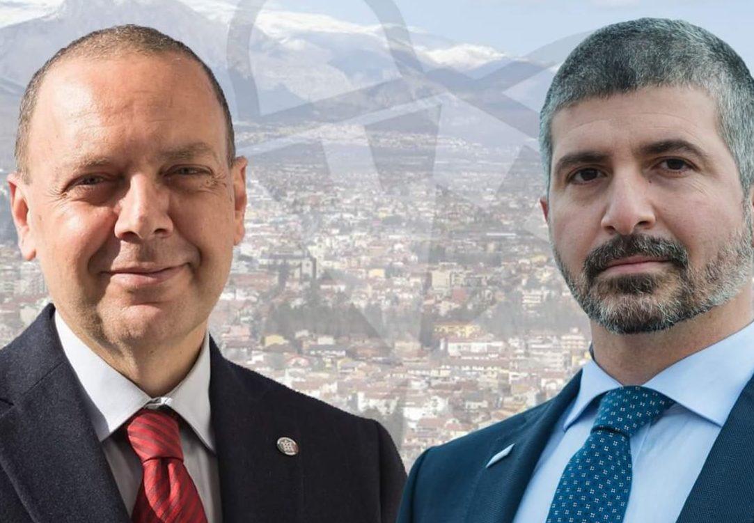 Chiusura campagna elettorale CasaPound Italia con il segretario nazionale Simone Di Stefano ad Avezzano