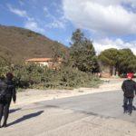Tempesta di vento in Marsica, vigili del fuoco e protezione civile all'opera per i danni causati