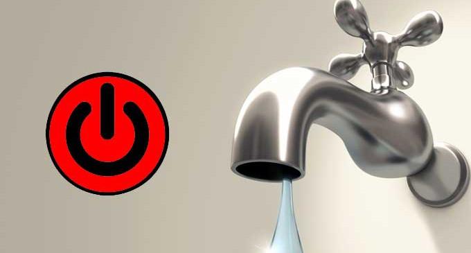 Previsto per domani l'Interruzione flusso idrico nella Piana del Cavaliere