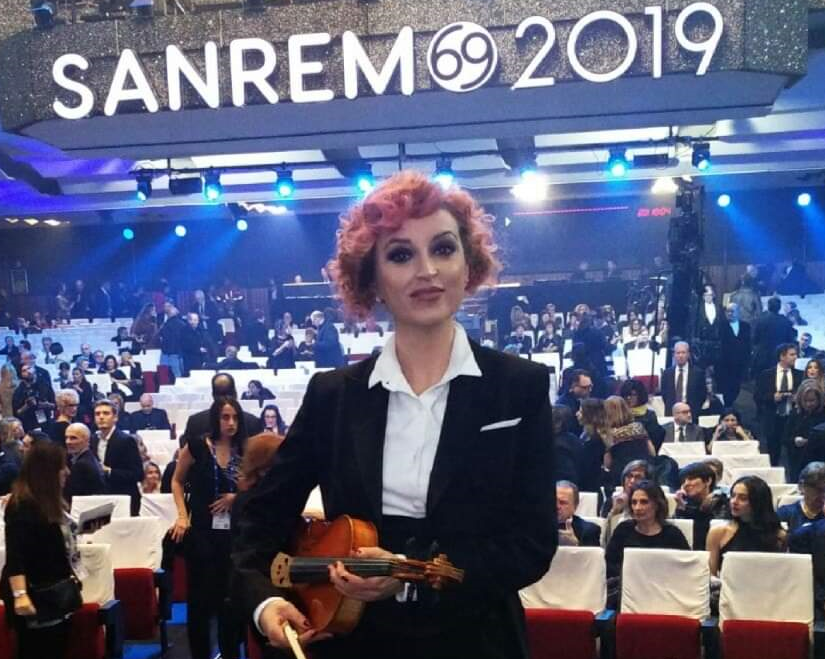 Adriana Marinucci, la violista celanese appena tornata da Sanremo