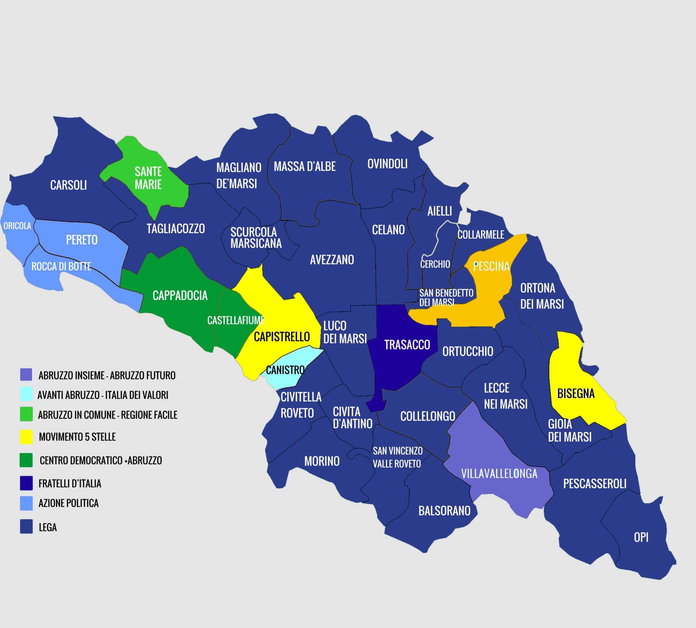 """Regionali, Marsica a """"trazione"""" leghista, geografia del voto. Tutti i dati comune per comune"""