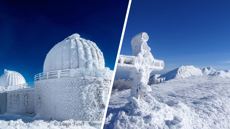 """La meraviglia delle """"sculture"""" di neve e ghiaccio a Campo Imperatore"""