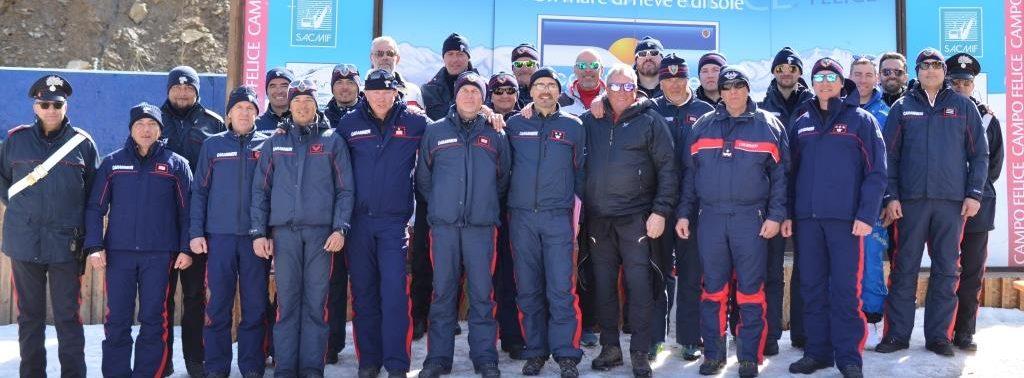 Ieri a Campo Felice le selezioni dei Carabinieri sciatori per la 38^ Gara d'Arma di sci