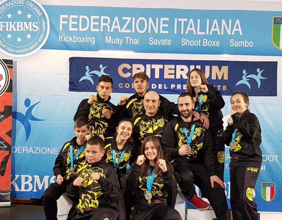 Medaglie per gli atleti della K. O. Team Kick Boxing che si classificano ai prossimi Campionati Italiani