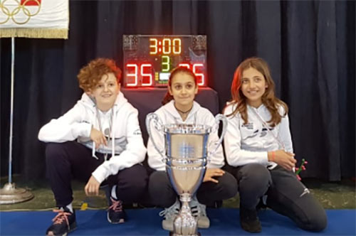 Scherma, è marsicana una componente del trio che si è aggiudicato il titolo italiano under 14 a Sulmona