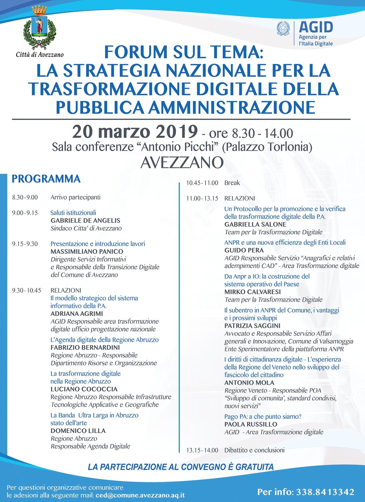 Avezzano, un convegno sulla trasformazione digitale nell'ambito della pubblica amministrazione