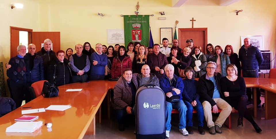 San Benedetto dei Marsi cardioprotetto, sei defibrillatori semiautomatici installati