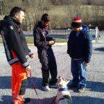 Il cane Zelda incontra gli ospiti della Casa Famiglia di Tagliacozzo