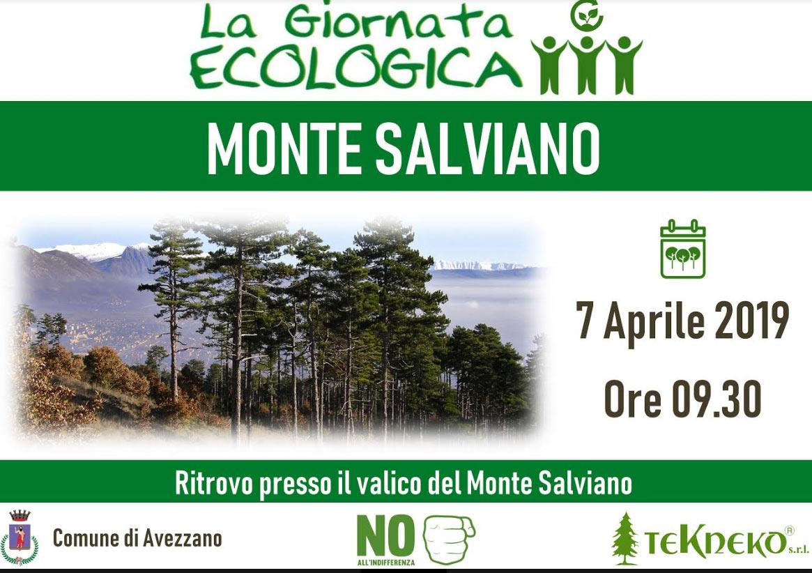 Al via la giornata ecologica ad Avezzano, volontari sul Salviano