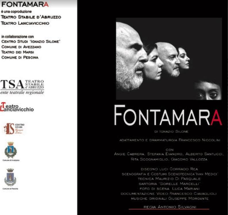 Domani sera, giovedì 14 marzo, alle 21, al Teatro dei Marsi andrà in scena Fontamara.