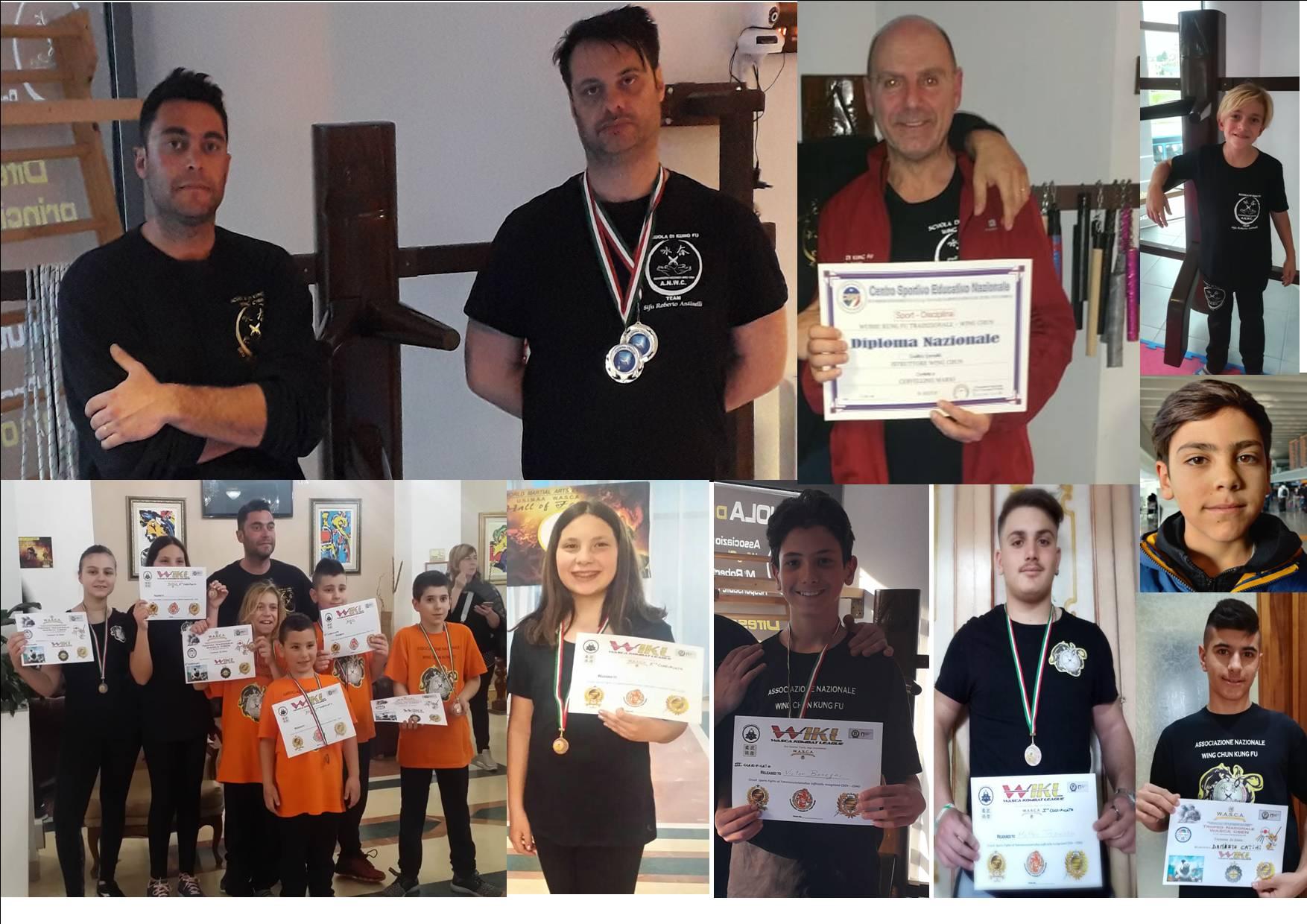 Kung Fu: Pasqua d'oro per gli atleti avezzanesi