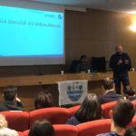 L'economista Gianluca Ranieri tra gli studenti di bioscienze a Teramo