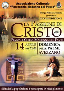 """Sacra Rappresentazione della Passione di Gesù animata dai giovani nel piazzale della chiesa """"Madonna del Passo"""""""