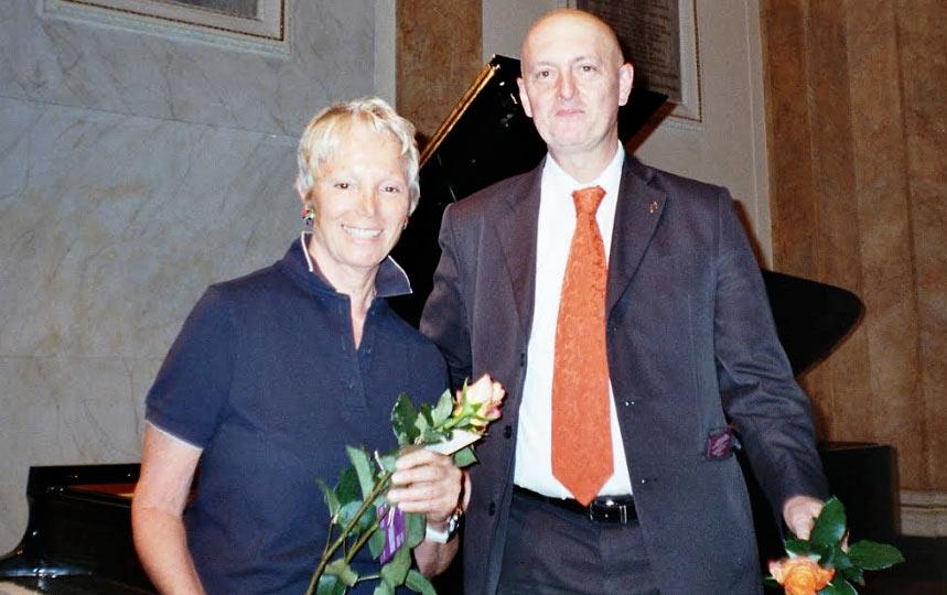 La compositrice avezzanese Ada Gentile a Cracovia, in rappresentanza dell'Italia