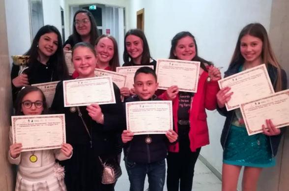 Gli allievi della scuola avezzanese Golden Music trionfano a Caramanico