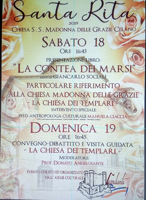 """A Celano presentazione del volume """"La Contea dei Marsi"""" di Giancarlo Sociali"""