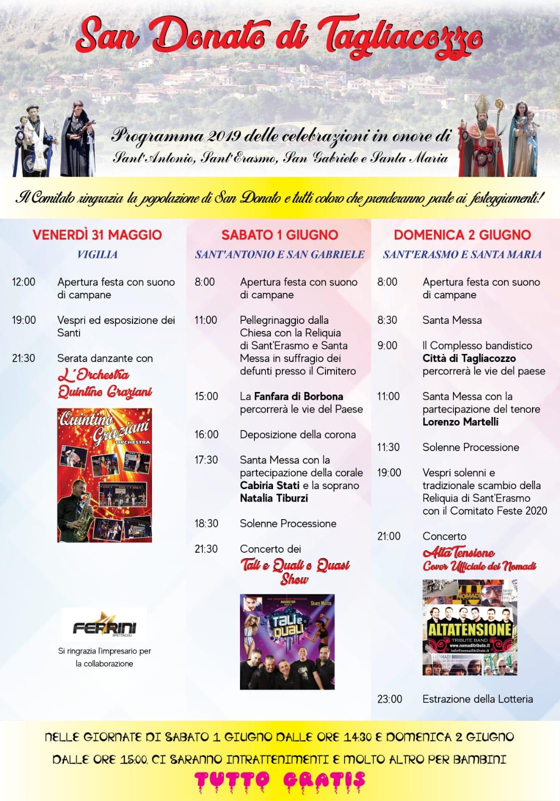 Al via le feste patronali a San Donato, ecco tutti gli appuntamenti